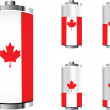 Canadian battery — Stock Vector