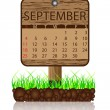 Calendar banner september - Stock Vector