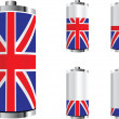 United kingdom battery — Stock Vector