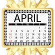 Stock Vector: Calendar april 2011