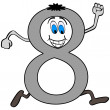 Vector de stock : Number eight