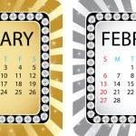 Calendar february — Stock Vector #8035807