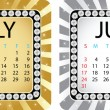 Stock Vector: Calendar july