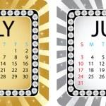 Calendar july — Stock Vector