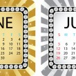 Calendar june — Stock Vector #8035820