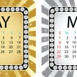Calendar may — Stock Vector