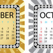 Calendar october — Stock Vector