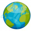 Stock Vector: World globe