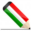 Stock Vector: Hungary pencil