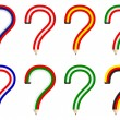 Stock Vector: Question pencils