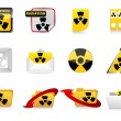 Radiation icons — Stockvektor #8036633