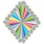 Rhombus colorful stars pattern — Stock Vector