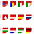 Royalty-Free Stock Vector Image: Stickers with flags
