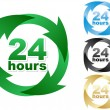 Stock Vector: Twenty four hours