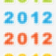 Year 2012 — Stock Vector #8037314