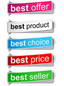 Best sale banners — Stock Vector