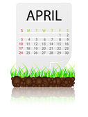 Calendar april — Stock Vector