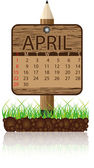 Calendar banner april — Stock Vector