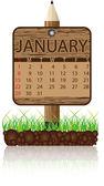 Calendar banner january — Stock Vector