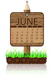 Calendar banner june — Stock Vector