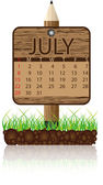 Calendar banner july — Stock Vector