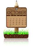 Calendar banner october — Stock Vector