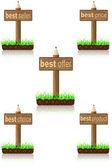 Wooden banner best product — Stock Vector