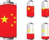 Batterie chinois — Vecteur