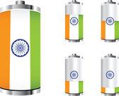 印度电池 — 图库矢量图片