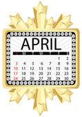 Calendar april 2011 — Stock Vector