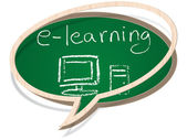 E-learning — Vector de stock