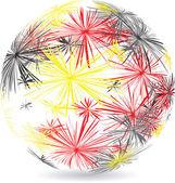 Německá míč z hvězd — Stock vektor