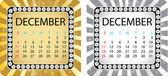 Calendário de dezembro — Vetorial Stock