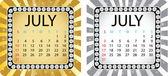 Calendário de julho — Vetorial Stock