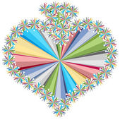 Heart colorful stars pattern — Vettoriale Stock