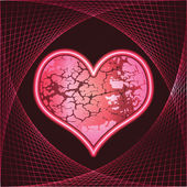 Stone heart banner — Stock Vector