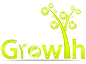 Growth design — Stock Vector