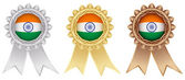 Indian medal labels — Stock Vector