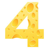 Number 4 — Stock Vector
