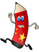 Chinese pencil — Stock Vector