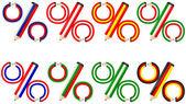 鉛筆のパーセント — ストックベクタ