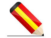 Matita spagnolo — Vettoriale Stock