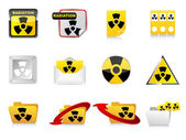 Radiation icons — Stock Vector
