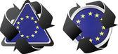 European recycling buttons — Stock Vector