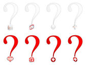 Question help icons — Stock Vector