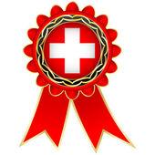 Switzerland medal — Stock Vector