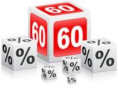 Sixty percent discount — Stock Vector
