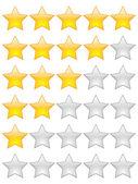 Estrellas de calificación — Vector de stock
