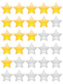 Rating stars — Stock Vector
