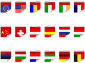 Stickers with flags — Stock Vector